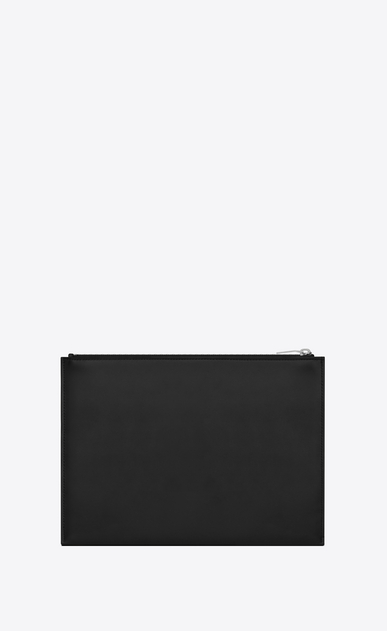 SAINT LAURENT Monogram SLG Uomo Monogram tablet case in black leather b_V4