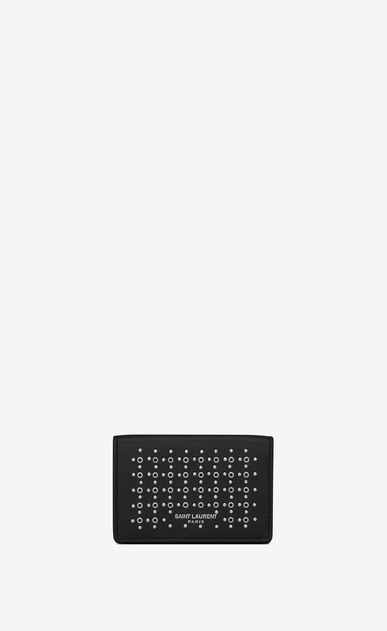 SAINT LAURENT SLP animation Man tiny wallet in leather and studs a_V4