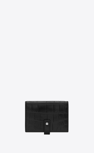 SAINT LAURENT Sac de jour SLG Man Sac de Jour supple business card case in stamped crocodile leather a_V4
