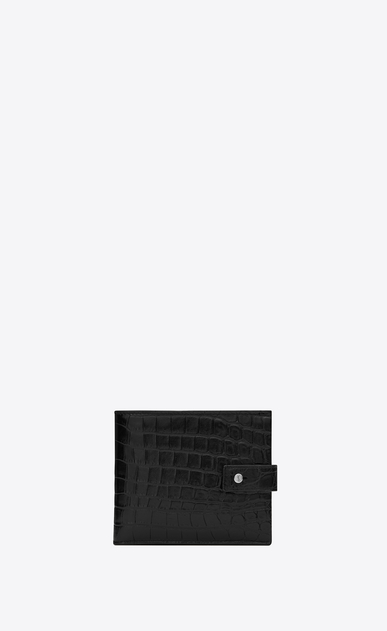 SAINT LAURENT Sac de jour SLG Man Sac de Jour supple East/West wallet in stamped crocodile leather a_V4