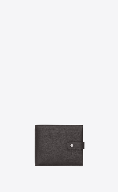 SAINT LAURENT Sac de jour SLG Man Sac de Jour supple east/west wallet with coin purse in grained leather a_V4