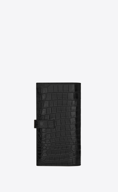 SAINT LAURENT Sac de jour SLG Man Sac de Jour supple continental wallet in stamped crocodile leather b_V4