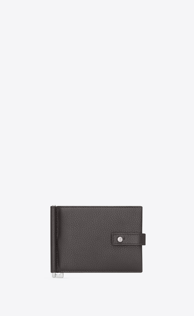 SAINT LAURENT Sac de jour SLG Man Sac de Jour supple bill clip wallet in grained leather a_V4