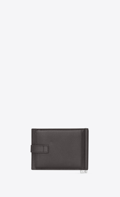 SAINT LAURENT Sac de jour SLG Man Sac de Jour supple bill clip wallet in grained leather b_V4