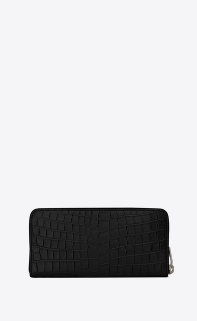 SAINT LAURENT Sac de jour SLG Man Sac de Jour zippered wallet in stamped crocodile leather b_V4