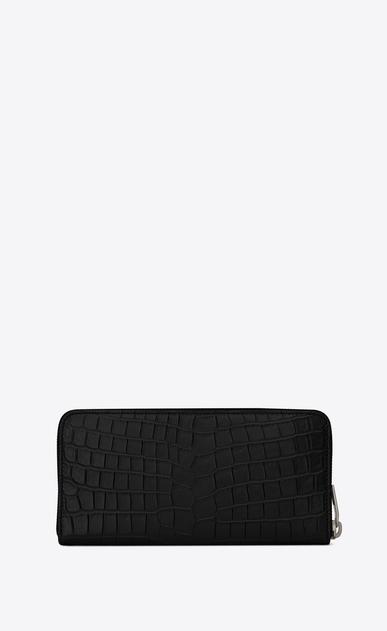 SAINT LAURENT Sac de jour SLG Man Sac de Jour zippered wallet in crocodile embossed leather b_V4