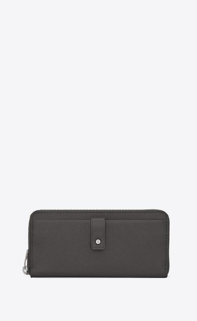 SAINT LAURENT Sac de jour SLG メンズ Sac de Jour zippered wallet in storm gray grained leather a_V4