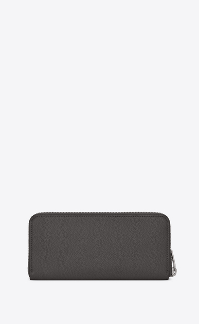 SAINT LAURENT Sac de jour SLG メンズ Sac de Jour zippered wallet in storm gray grained leather b_V4