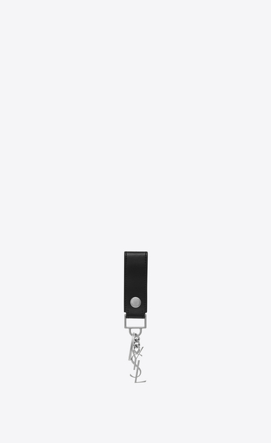 SAINT LAURENT Monogram SLG Man Monogram key ring in smooth leather a_V4