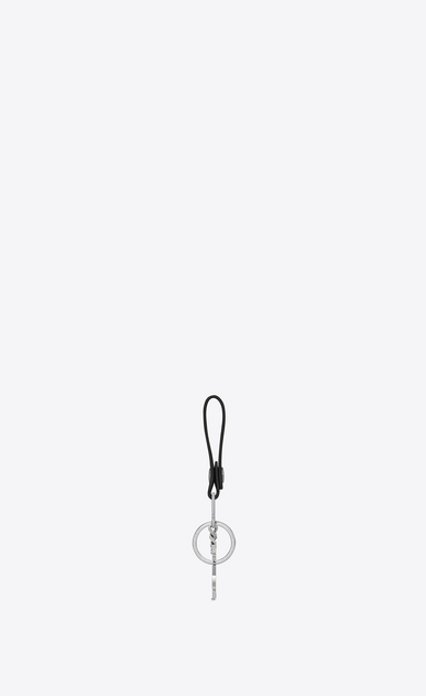 SAINT LAURENT Monogram SLG Man Monogram key ring in black leather b_V4