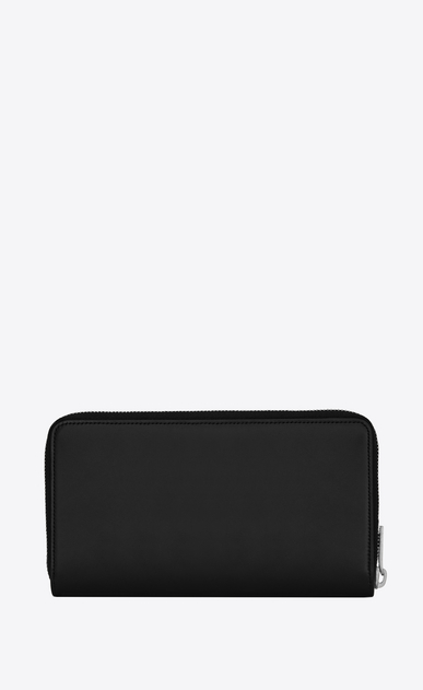 SAINT LAURENT Monogram SLG Man Large YSL zippered monogram wallet in black leather b_V4