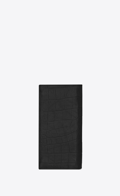 SAINT LAURENT Monogram SLG Man monogram continental wallet in stamped crocodile leather b_V4