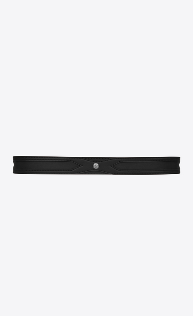 SAINT LAURENT Cinture Classiche Uomo Folk double-loop belt in black leather b_V4