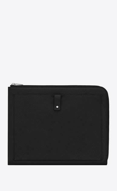 SAINT LAURENT Sac de jour SLG Man Sac de Jour A4 briefcase in black grained leather a_V4