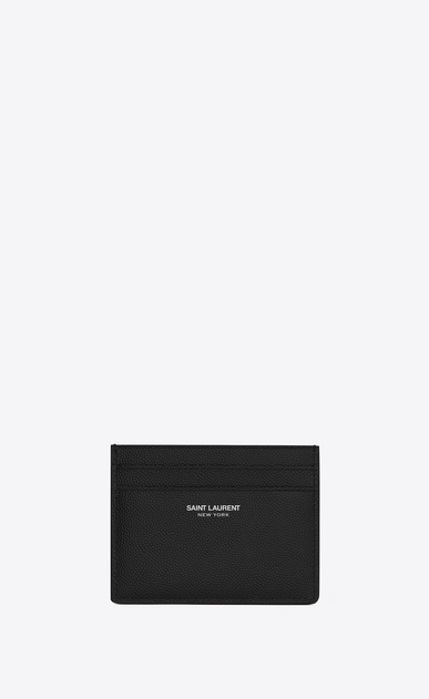SAINT LAURENT Saint Laurent Paris SLG Man Saint Laurent New York card case – Online exclusive a_V4