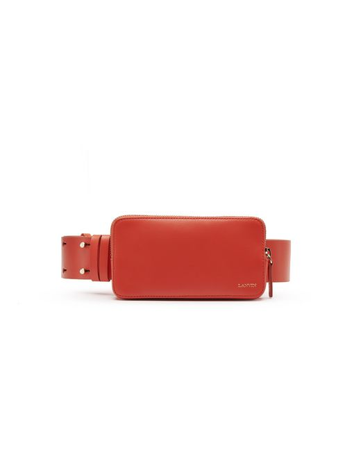 BRIGHT ORANGE SMARTPHONE BELT - Lanvin