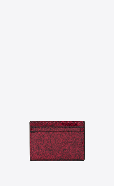 SAINT LAURENT Monogram SLG Woman Monogram card case in glitter patent leather b_V4