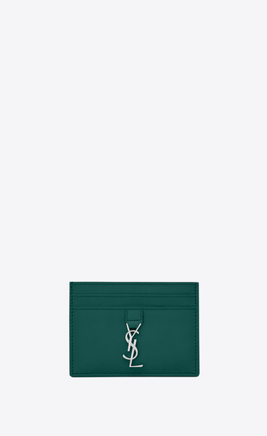 SAINT LAURENT YSL line レディース YSL Line card case in smooth leather a_V4