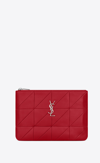 "SAINT LAURENT Monogram SLG Woman jamie pouch ""carré rive gauche"" in lambskin a_V4"