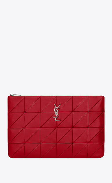 "SAINT LAURENT Monogram SLG Woman jamie document holder ""carré rive gauche"" in lambskin a_V4"
