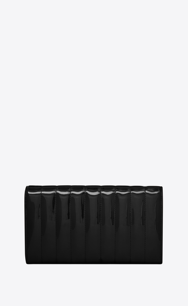 SAINT LAURENT Vicky SLG Woman Vicky large flap wallet in matelassé patent leather b_V4