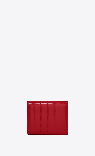 SAINT LAURENT Vicky SLG Woman Vicky compact tri-fold wallet in matelassé patent leather b_V4