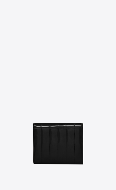 SAINT LAURENT Vicky SLG Woman Vicky small wallet in matelassé patent leather b_V4