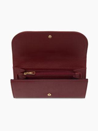 Hana long wallet with flap