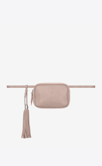 SAINT LAURENT Belt Bags Woman lou belt bag in smooth leather a_V4