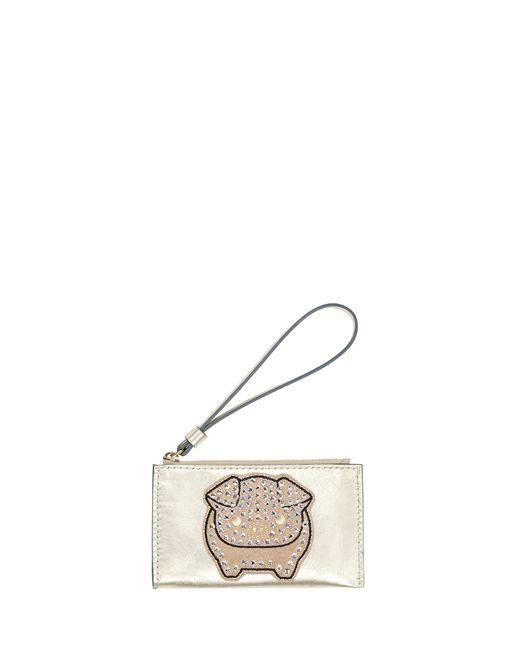 SMALL PALE GOLD EMBROIDERED CLUTCH - Lanvin