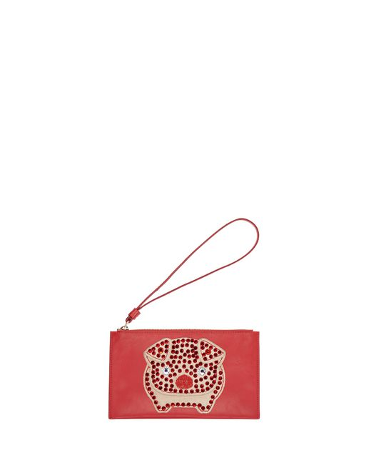 SMALL POPPY EMBROIDERED CLUTCH - Lanvin