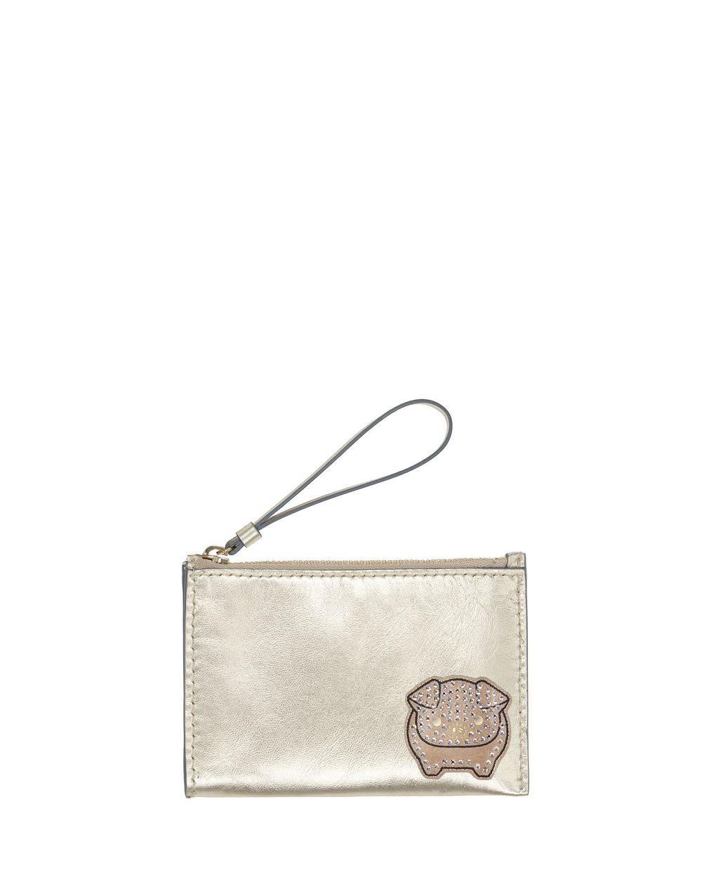 MEDIUM PALE GOLD EMBROIDERED CLUTCH - Lanvin