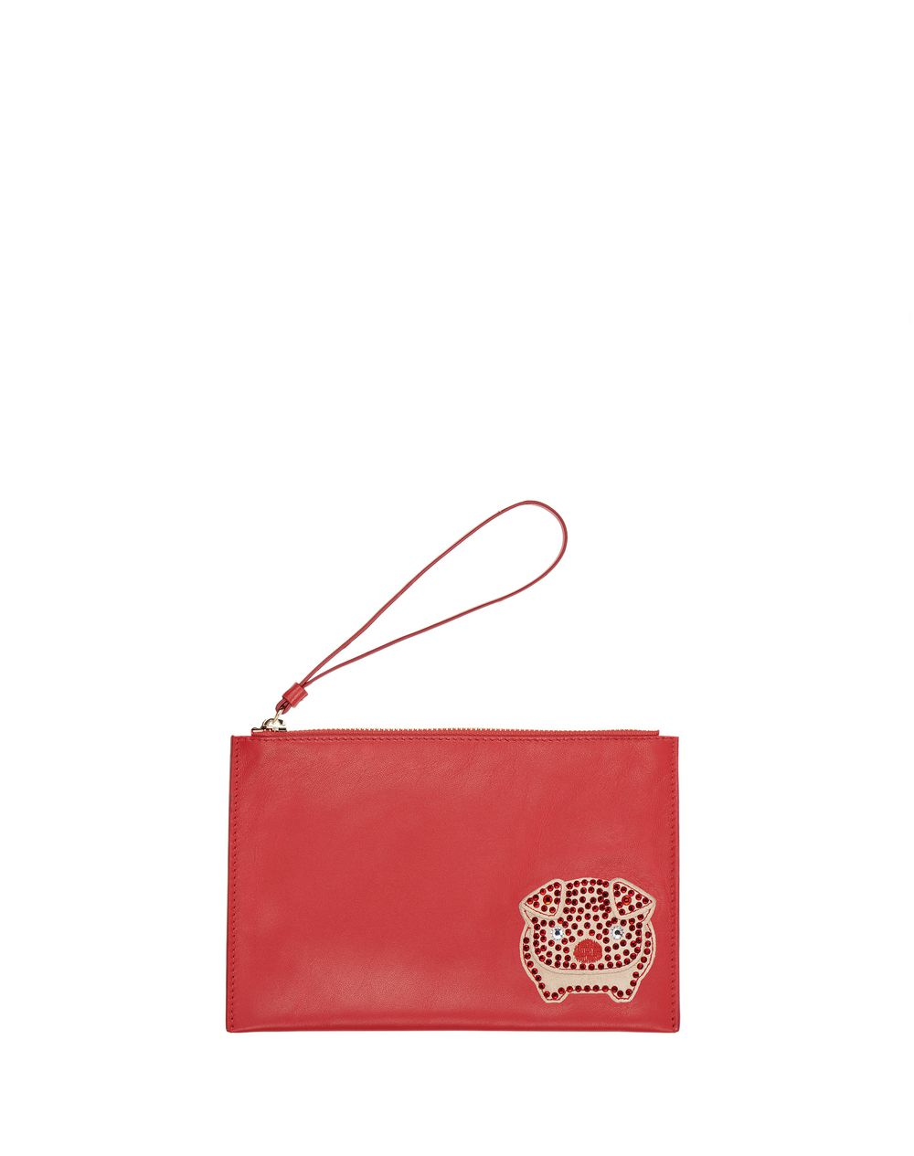MEDIUM POPPY EMBROIDERED CLUTCH - Lanvin