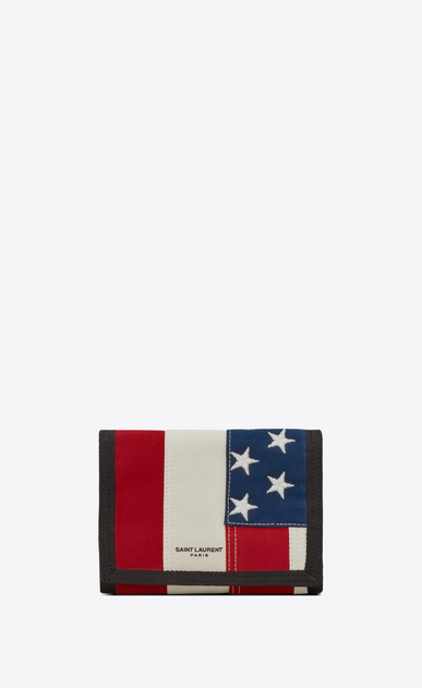 Buffalo compact wallet in American flag canvas