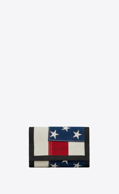 Buffalo tiny wallet in American flag canvas