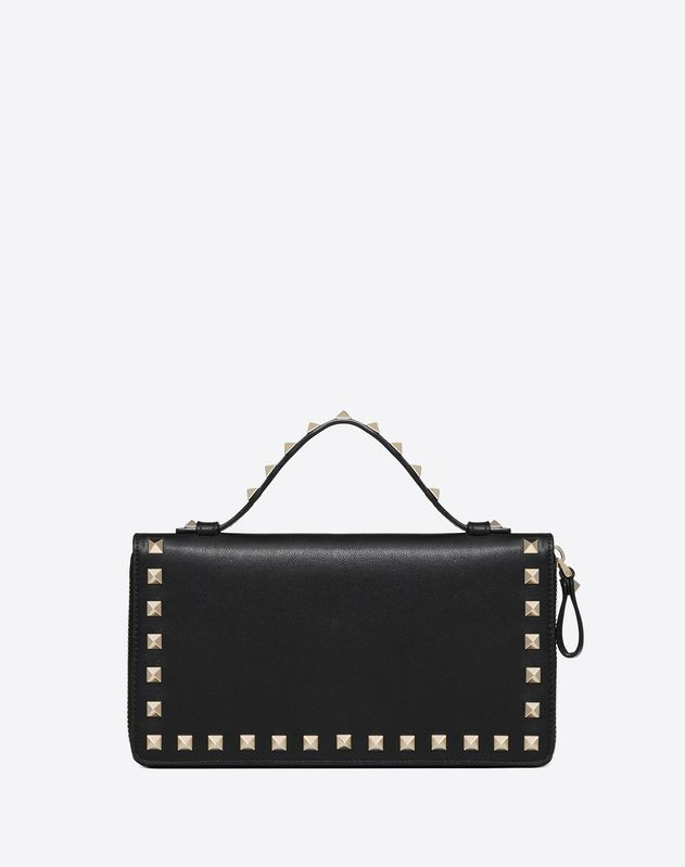 Rockstud Zipped Travel Wallet
