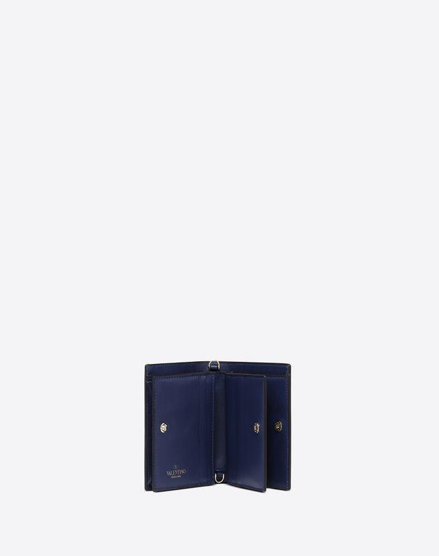 Bicolor Lock Small Wallet