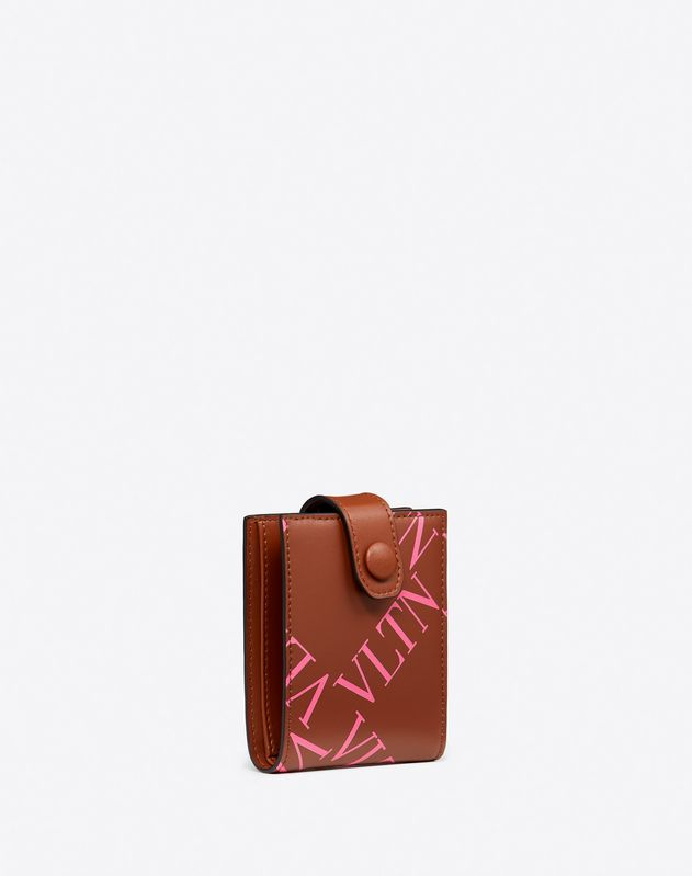 VLTN Grid Wallet With Neck Strap
