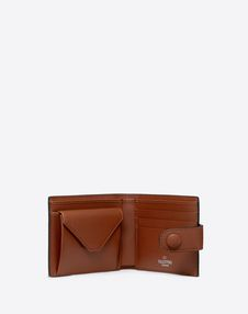 VLTN Grid Wallet With Neck Strap