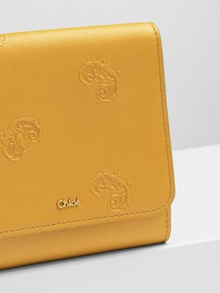 Portefeuille compact à rabat Signature