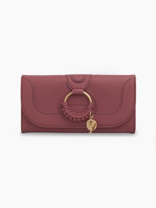Hana long wallet with flap