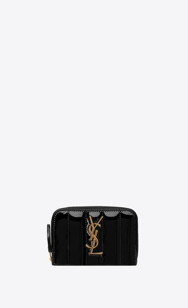 8e6d2e4ee12e Saint Laurent VICKY Coin Purse In Quilted Patent Leather