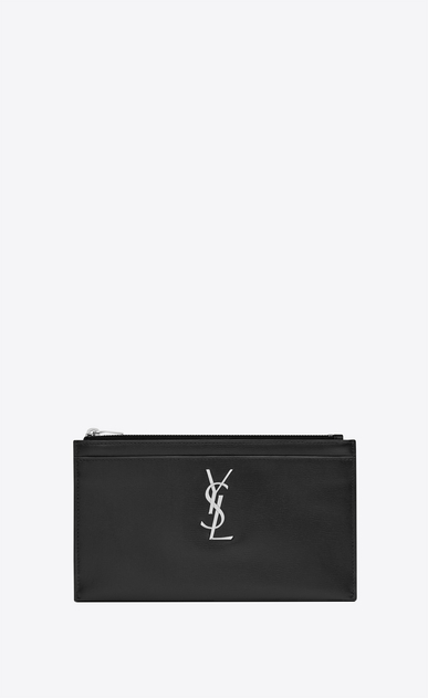 Monogram bill pouch in smooth leather
