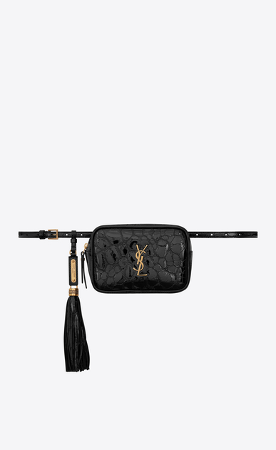 LOU Belt bag in turtle embossed patent leather