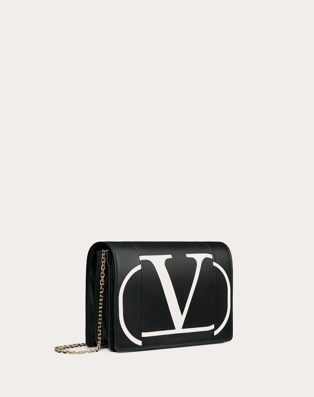 Go Logo Inlay Chain Pouch
