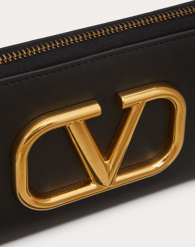 VLOGO Calfskin Zippered Wallet