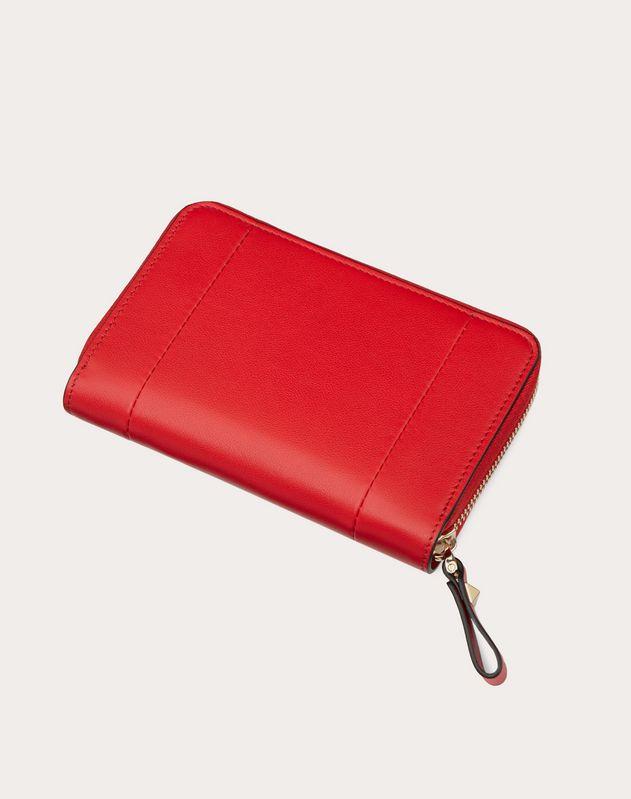VLOGO Inlay Zippered Wallet