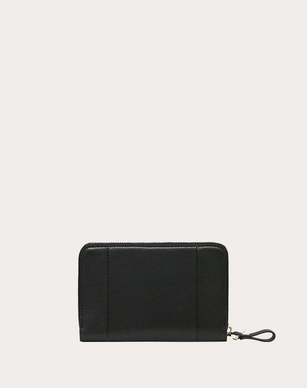 VLOGO Inlaid Zipped Wallet