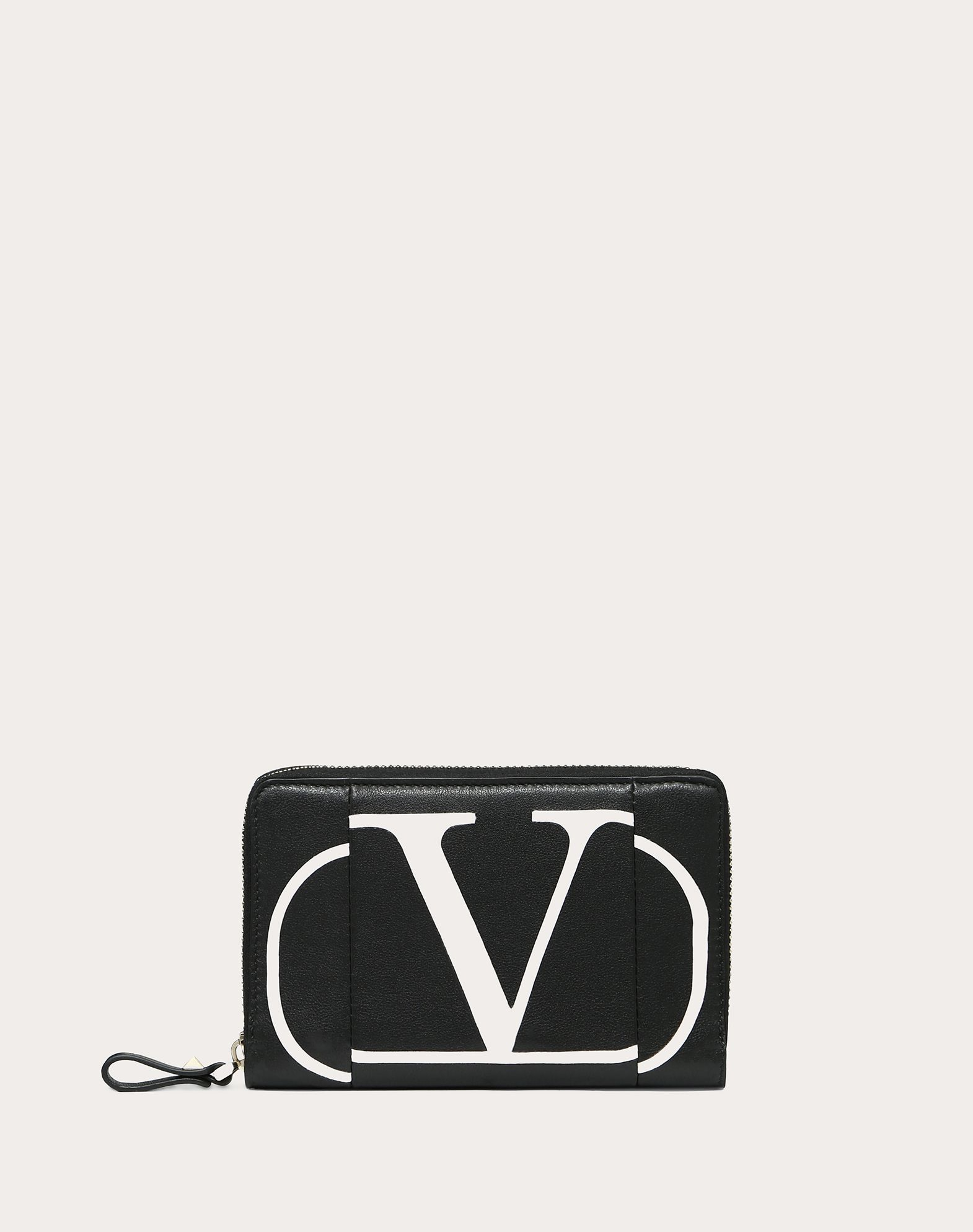 VLOGO Inlay Zippered Wallet