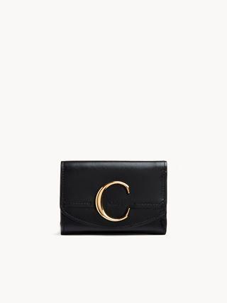 Mini portefeuille à trois volets Chloé C